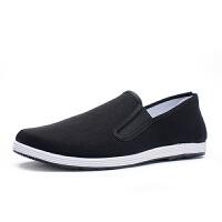 老北京布鞋男春季透气单鞋千层底黑布鞋开车鞋中老年休闲鞋潮
