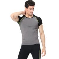 男子训练紧身衣运动健身跑步短袖长裤排汗速干T恤