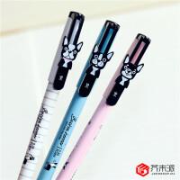 【一元秒杀】得力A006学生中性笔0.38mm全针管水性笔可爱创意学生水笔签字笔