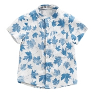 婴儿衣服夏装短袖衬衫1-2-3岁新生儿男宝宝6个月夏季薄款圆领衬衣