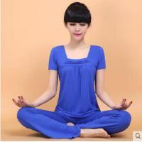 新品瑜伽服套装 潮款短袖大码显瘦女跑步跳操瑜珈服愈加 可礼品卡支付