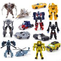 变形玩具金刚5迷你大黄蜂小汽车机器人手动模型套装男孩蒙巴迪4