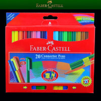 Faber-castell辉柏嘉20色可拼砌水彩笔 儿童水彩笔 积木水彩画笔
