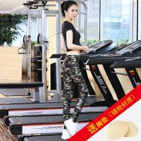 瑜伽服套装女韩国春夏速干健身房服跳操跑步裤运动衣瑜珈显瘦 K10短袖黑+K1222花裤 送XD