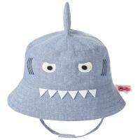 男宝宝可爱鲨鱼帽儿童遮阳帽薄款婴儿渔夫帽