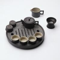 ????整块天然乌金石茶盘整套功夫陶瓷黑陶茶具套装家用简约杯子 只装 0件