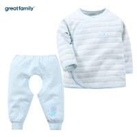 歌瑞家新生儿长袖和袍套装2017冬装新款男女宝宝家居服套装 乐友