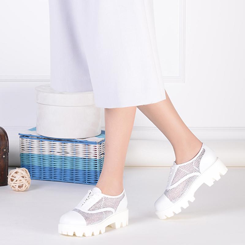 达芙妮 厚底女鞋深口女单鞋 网面镂空鸟巢鞋松糕鞋