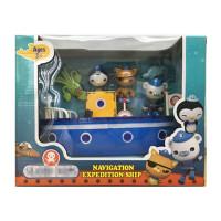 玩具船仿真海盗船轮船儿童戏水玩具 蓝色 戏水轮船