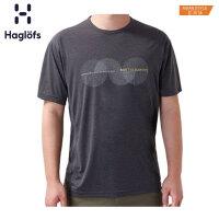 Haglofs火柴棍户外男款快干舒适印花短袖T恤 603891 亚版