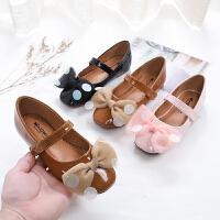 儿童皮鞋时尚韩版女童公主鞋室外防滑软底女宝宝单鞋