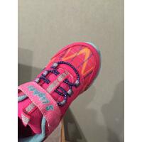 女童运动鞋 春秋款女童中小童休闲鞋闪灯鞋 儿童超轻魔术贴运动鞋