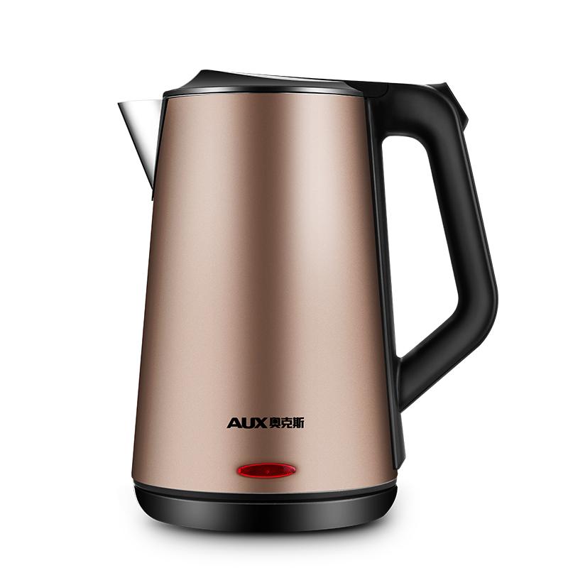 aux奥克斯hx-5119电水壶304不锈钢家用烧水壶电热水壶保温电水壶