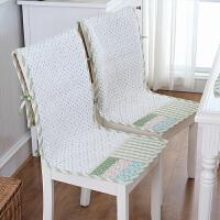 小清新餐椅垫田园坐垫靠背一体椅子垫子套装办公室椅垫学生凳子垫 45*120cm 6条装