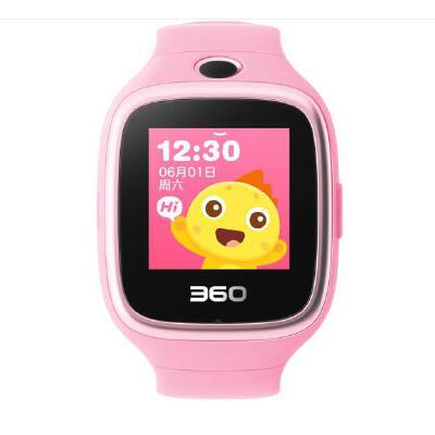360儿童手表6W防水版 智能拍照 智能问答 防丢防水GPS定位 360儿童手表6W W609防水彩屏电话手表 樱花粉 不怕水的儿童电话手表【拍照款】