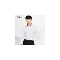 【GXG过年不打烊】GXG男装 春季男士时尚都市商务流行青年休闲修身白色长袖衬衫男潮