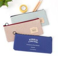 韩国文具袋简约笔袋女中学生大容量帆布铅笔盒男零钱包收纳化妆包