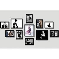 服装店照片墙时尚女装模特现代实木相框沙发背景墙装饰画挂画墙画