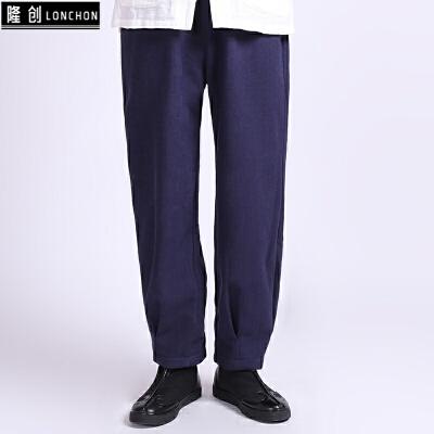 中国风男裤子秋冬季加绒加厚男士棉麻休闲裤宽松大码男装亚麻长裤 一般在付款后3-90天左右发货,具体发货时间请以与客服协商的时间为准