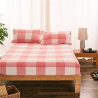 日式水洗棉床笠单件棉棉1.8m床罩1.5m席梦思床垫保护套风