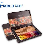 秘密花园 填色笔 马可3100-48 36 24TN雷诺阿彩色铅笔 铁盒油性彩铅