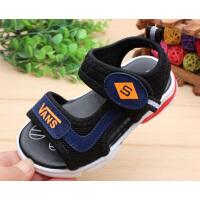 宝宝凉鞋男1-3岁软底 小儿童凉鞋男女孩学步鞋夏露趾沙滩鞋潮