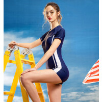 游泳衣女连体专业运动款大码女士泳衣保守连体泡温泉