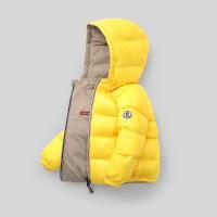 新款儿童羽绒服宝宝双面穿面包服中小童冬装男童女童亮面外套