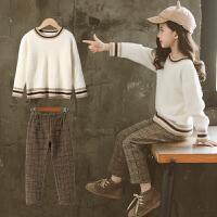 女童秋冬装套装儿童洋气毛衣中大童装洋气时髦两件套