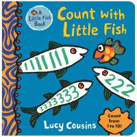【预订】Count with Little Fish 跟小鱼数数 英文儿童故事书  1-3岁