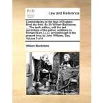【预订】Commentaries on the Laws of England. Book the Third. by