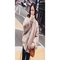 实拍 秋冬温暖系韩国宽松加厚羊羔毛外套女仿皮草大衣短款小棉衣 肉桂色