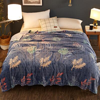 冬季毛毯珊瑚绒毯子加厚法兰绒床单空调毯被子单人宿舍学生午睡毯