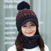 帽子女冬天韩版潮百搭时尚加绒针织毛线帽冬季学生保暖帽甜美可爱