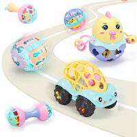 婴儿摇铃玩具0-3-6-12个月宝宝0-1岁幼儿早教益智牙胶手抓球e7a