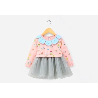 婴儿公主裙春秋1-3女童春装连衣裙儿童长袖小童2-5一岁女宝宝裙子