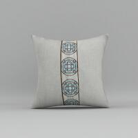 新中式抱枕靠垫中国风红木沙发抱枕北欧棉麻抱枕靠垫沙发抱枕套
