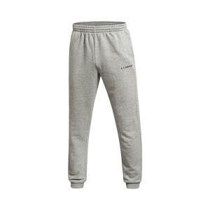 李宁LINING训练系列舒适男装罗纹收口运动卫裤AKLK373