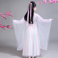 儿童古装衣服三生三世十里桃花白浅女拖尾仙女服汉服清新淡雅广袖