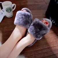 棉拖鞋女冬男厚底居家冬季可爱室内软底毛绒情侣毛毛拖鞋冬天