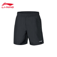 李宁运动短裤男士2018新款训练系列薄款短装夏季运动裤AKSN183