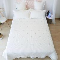 风韩国水洗棉床盖三件套夹棉绗缝被网红床单3件套四季铺盖褥子