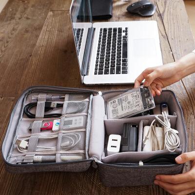 电源充电器盒数据线收纳包多功能电子产品旅行便携数码配件整理袋 品质保证 售后无忧 支持*付款
