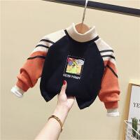 男女童卫衣冬装婴儿童加绒打底衫小童潮宝宝保暖上衣