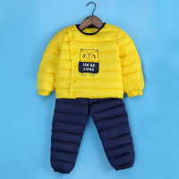 儿童羽绒内胆男童女童童装外穿套装中小童裤子宝宝外套两件套
