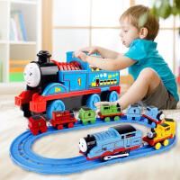 大号托马斯轨道儿童小火车头电动惯性合金汽车4套装玩具3-6岁男孩
