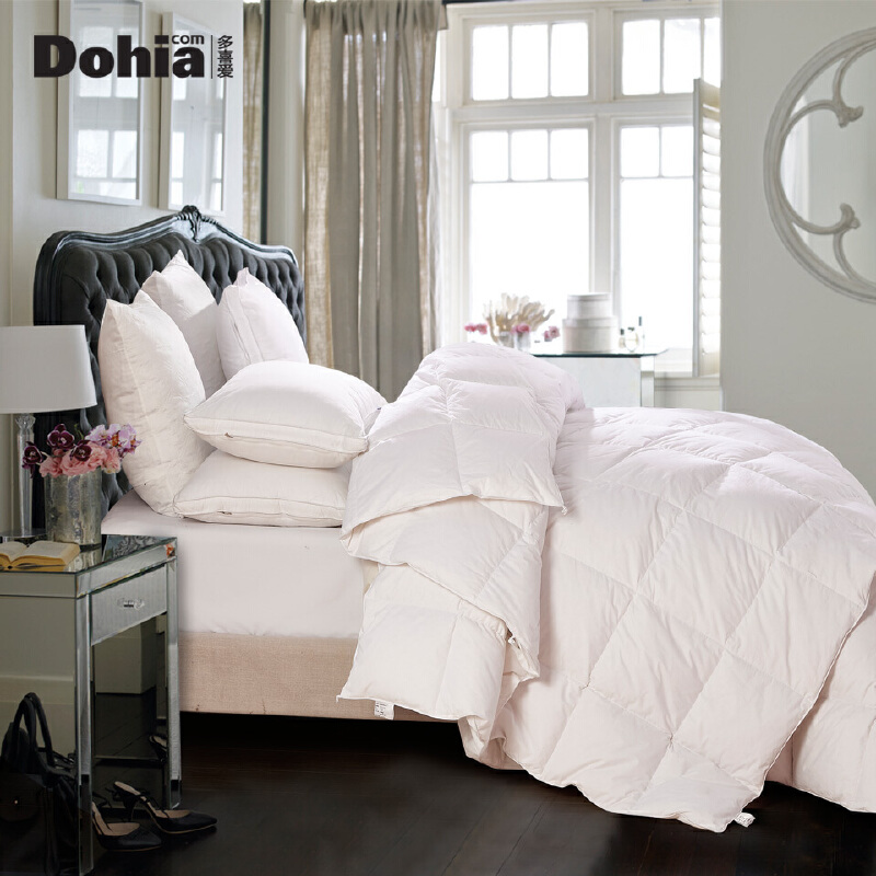 多喜爱羽绒子母被芯双人保暖二合一四季被子床上用品冬奥尔堡 羽绒子母被 一床多用 四季皆宜