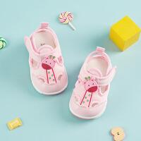 0-1岁宝宝凉鞋夏软底学步鞋男女布鞋