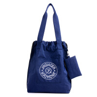 韩国抽袋帆布单肩包大包女士包包防水休闲简约手提包中老年妈妈包