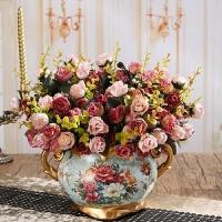 放在冰箱上的假花仿真花摆件 小清新欧式复古家居客厅餐桌装饰工